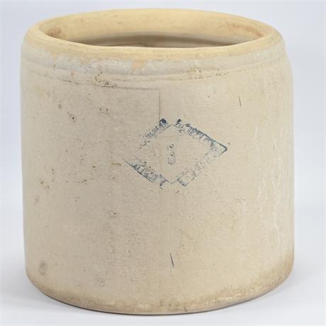 "Pittsburgh Pottery Co. ""Diamond Brand"" 3 Gallon Crock"