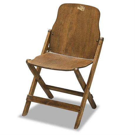 Vintage Storkline Folding Wood Chair