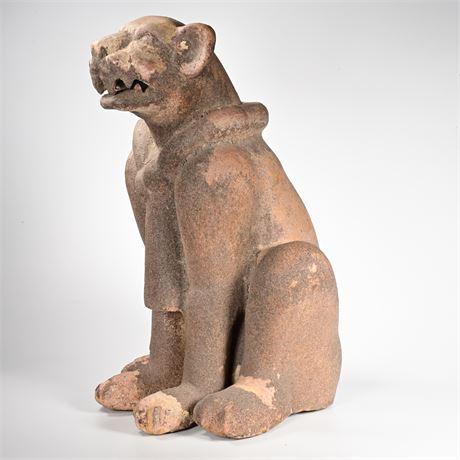 Aztec Jaguar Garden Sculpture