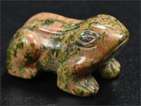 Zuni Unakite Frog Fetish