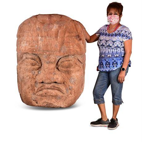 Olmec Garden Sculpture