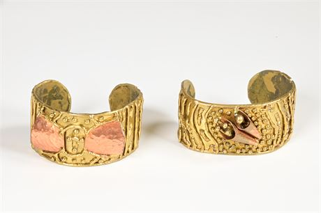 Pair of Artisan Crafted Cuff Bracelets