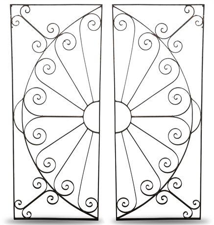 Ornamental Iron Salvage Panels
