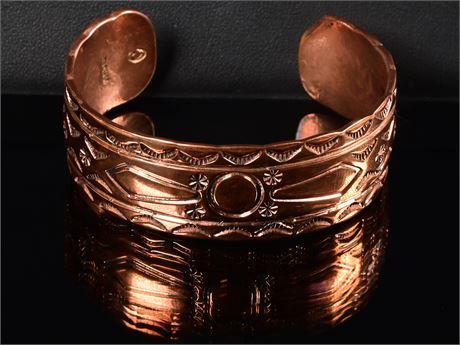 Navajo Copper Cuff by Victor Hicks