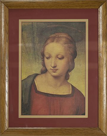 Madonna of The Goldfinch Framed Print