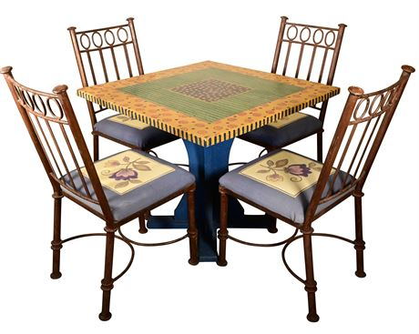 Whimsical Hand Painted Table and Chairs