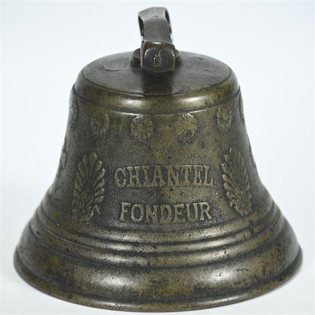 Antique 1878 Saignelégier Chiantel Fondeur Brass Cow Bell