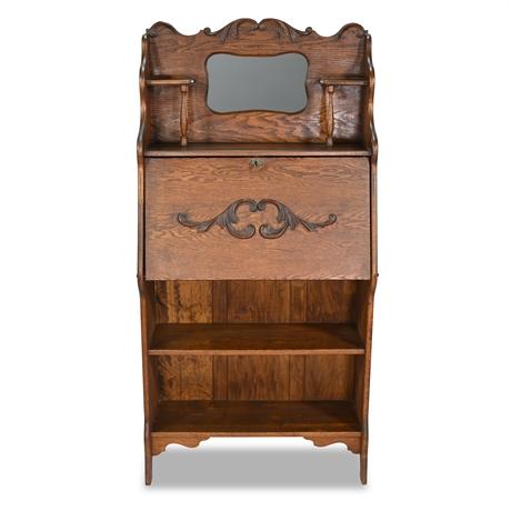 Antique Victorian Oak Secretary