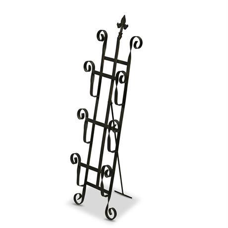 Wrought Iron Magazine/Book Rack