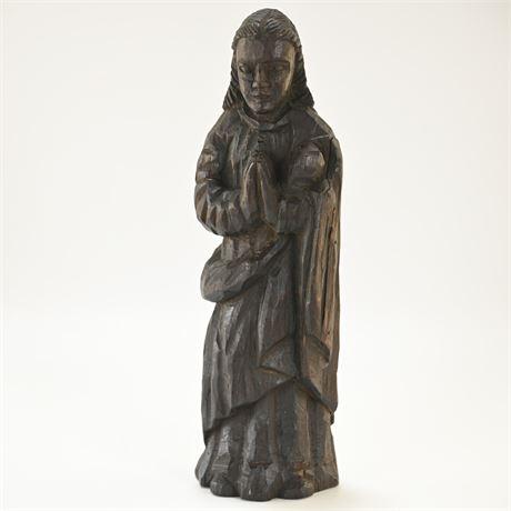 Antique Carved Saint