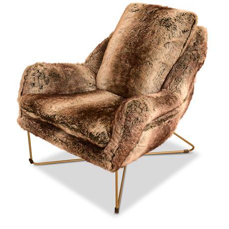 Wildau Faux Fur Accent Chair