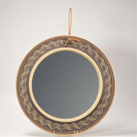 Stoneware Framed Mirror