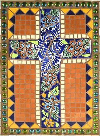 Talavera Mosaic Cross