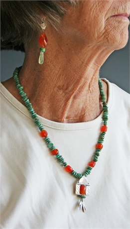 Lisa Carlson Necklace and Earring Set