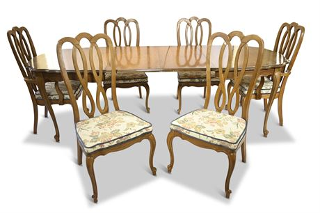 Classic Dining Table with (6) Chairs
