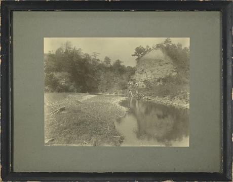 "Antique Framed Photograph ""On Horseback"""