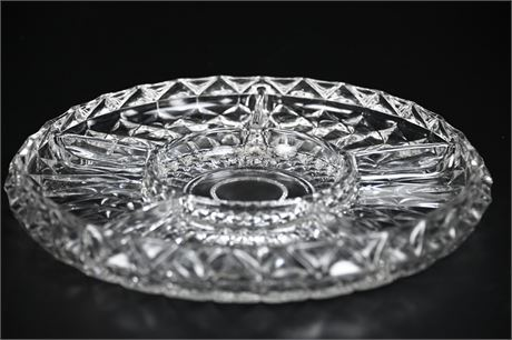 Divided Glass Appetizer Tray