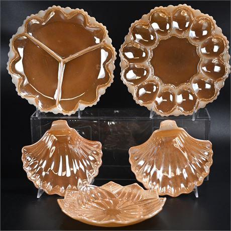 Custard Glass, Iridescent