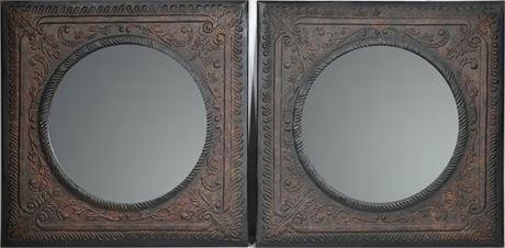 Embossed Tin Mirrors