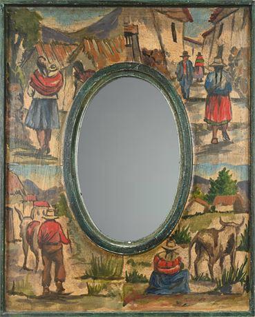 Mexican Folk Art Mirror