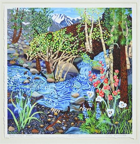 """Jude Bischoff """"Pine Creek Bear"""" Giclée Print Matted"""