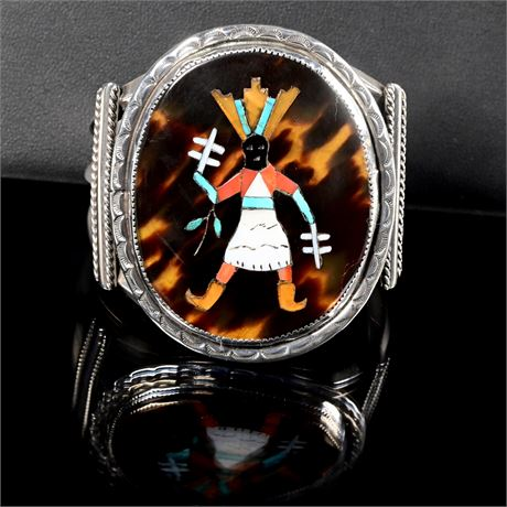 Zuni Inlaid Kachina Bracelet