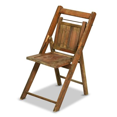 Antique Folding Wood Child's Chair