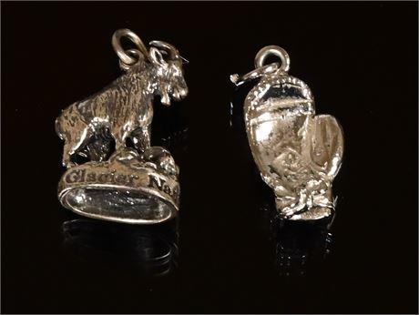 Pair Sterling Charms