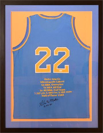 "Framed Autographed Slater ""Dugie"" Martin Jersey"
