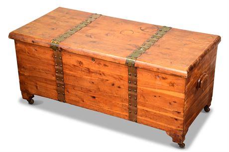 Antique Acme Solid Cedar Chest