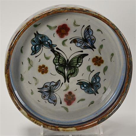 Vintage Ken Edwards Butterfly Bowl