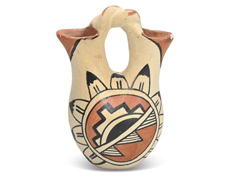 Mario Cordova Jeméz Pueblo Miniature Wedding Vase