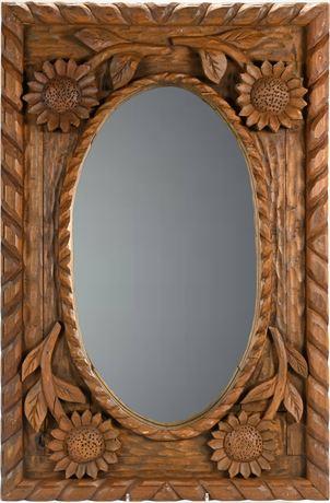 Carved Sunflower Mirror