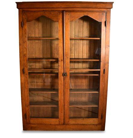 Antique Walnut Curio Cabinet