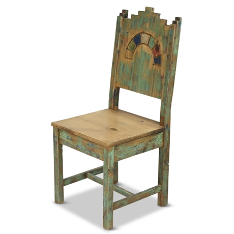 Carved Rustic Accent Chair