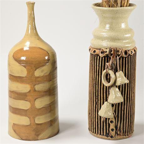 Pair Ceramic Vases