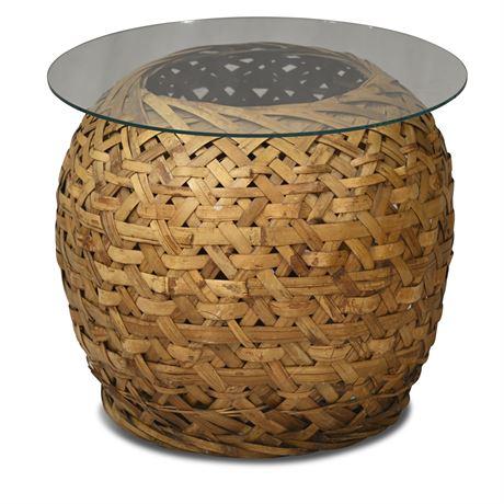Wicker Basket Table