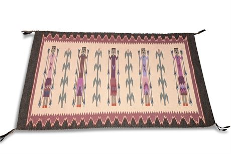 Navajo Yei Bei Chei Weaving by Gloria Hardy