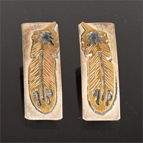 Vintage Navajo Sterling Earrings by Thomas Singe