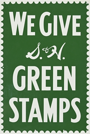 1950's S & H Green Stamps Enamel Sign