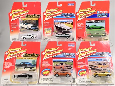 (6) Johnny Lightning Muscle Cars