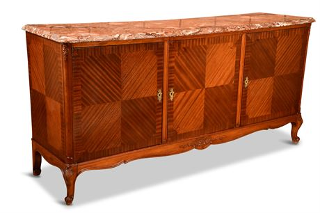 Antique French Provincial Sideboard Buffet