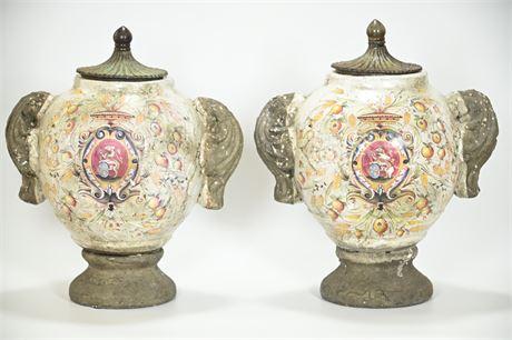 Deruta Style Vases