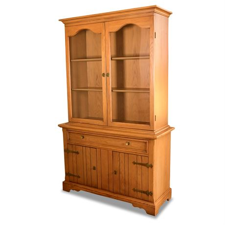 Mid-Century Oak China Cabinet