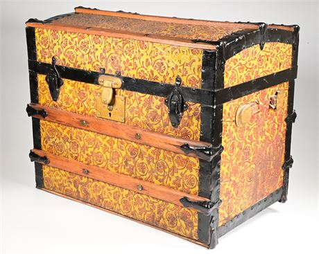 Antique Steamer Trunk, Children's Size