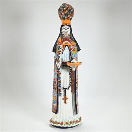 Talavera Day of the Dead Sculpture