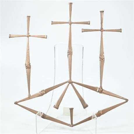 Three Crosses Wall Sculpture