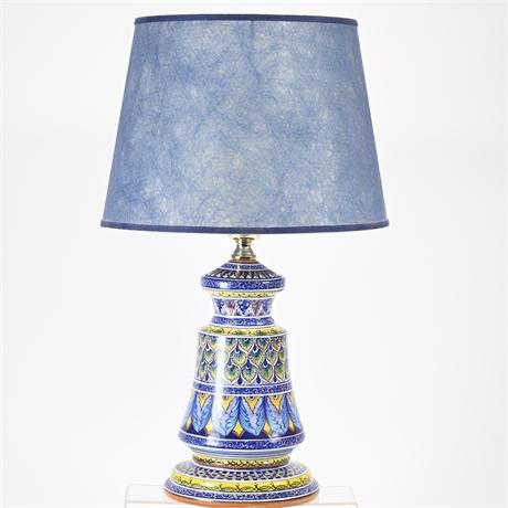 Italian Deruta Lamp