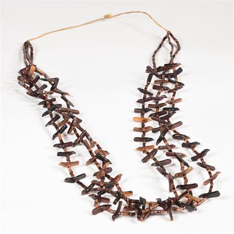 Traditional Zuni Bird Fetish Necklace