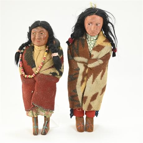Pair Bully Good Skookum Dolls